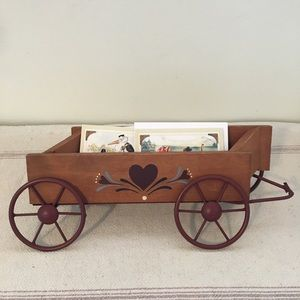 Vintage Country Decor Wagon Letter Recipe holder
